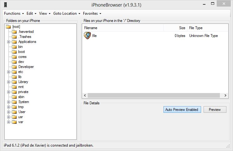 iPhoneBrowser 1.9.3b fonctionne sur windows 8 64 sans quicktime installé